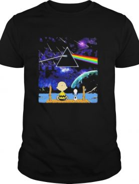 Charlie brown and snoopy seeing pink floyd band shirt