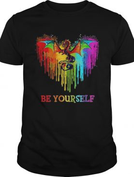 Dragon Heart Watercolor Be Yourself LGBT shirt