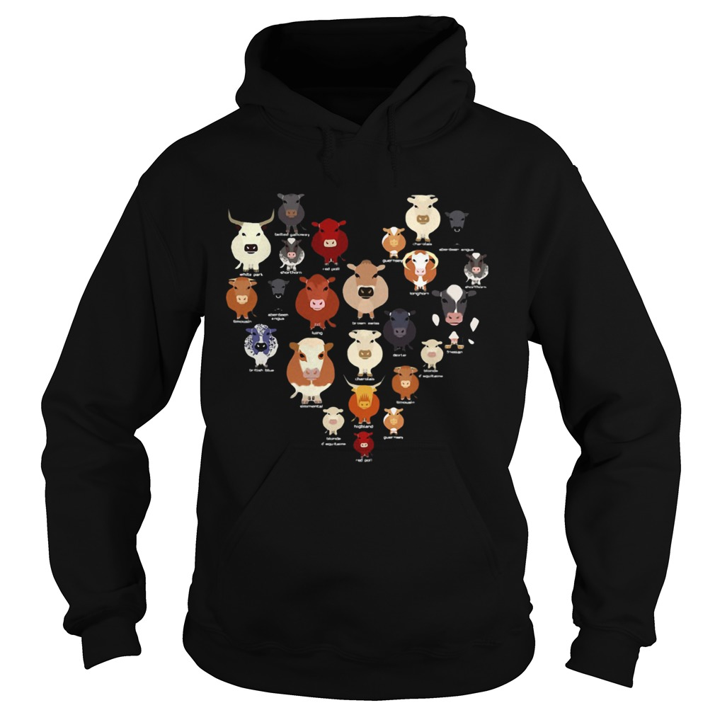 Funny Cow Heart  Hoodie