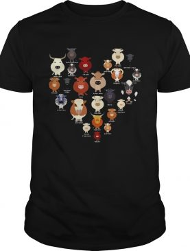 Funny Cow Heart shirt