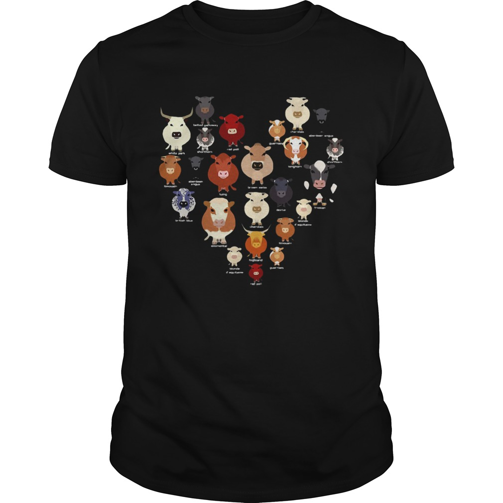 Funny Cow Heart  Unisex