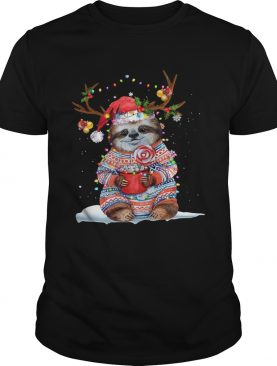 Grateful Sloth Reinder Light Christmas shirt