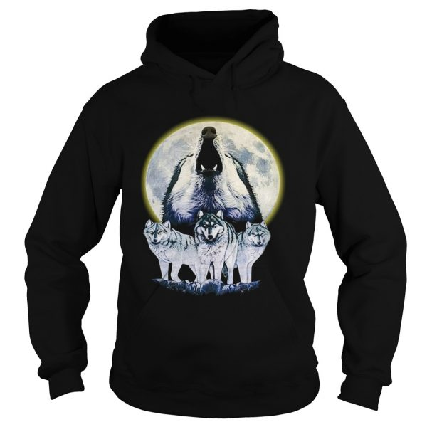 Howl At The Moon Vintage Wolf  Hoodie