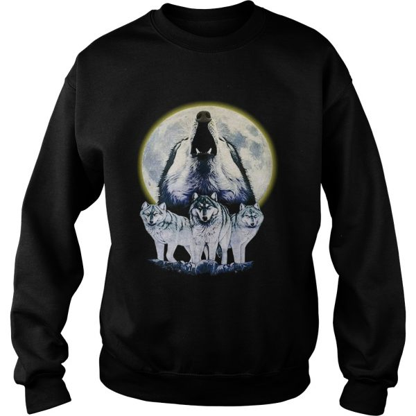 Howl At The Moon Vintage Wolf  Sweatshirt