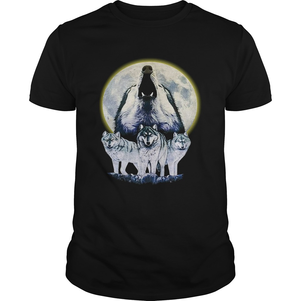 Howl At The Moon Vintage Wolf  Unisex