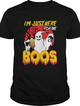 Im Just Here For The Boos Beer Halloween shirt