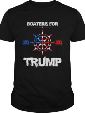 Novelty Election Slogan Boaters For Trump 2020 America Flag shirt