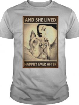 Pitbull And Mom And She Lived Happily Ever After Poster shirt