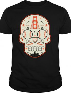 San Francisco Baseball Sugar Skull Day Of The Dead shirt