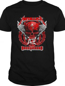 Skull wings metallica tampa bay buccaneers shirt