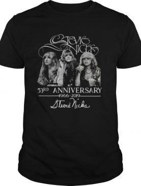 Stevie Nicks 53rd Anniversary 1966 2019 Signature shirt