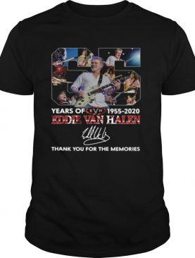 65 Years Of Eddie Van Halen 1955 2020 Thank You For The Memories Signature shirt