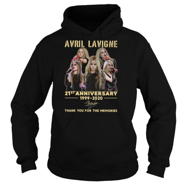 Avril Lavigne 21st Anniversary 1999 2020 Thank You For The Memories Signature shirt