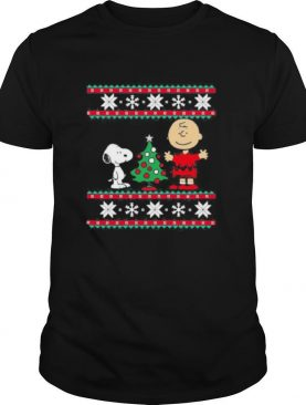 Charlie brown and snoopy ugly christmas shirt