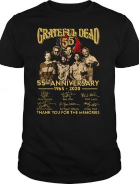 Grateful Dead 55th Anniversary 1965 2020 Signed Thank Memories shirt