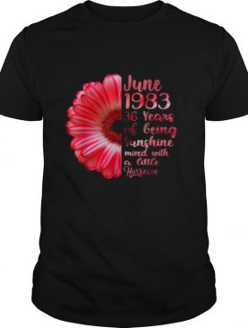 June Girls 1983 Shirt 36 Years Old Sunshine shirt