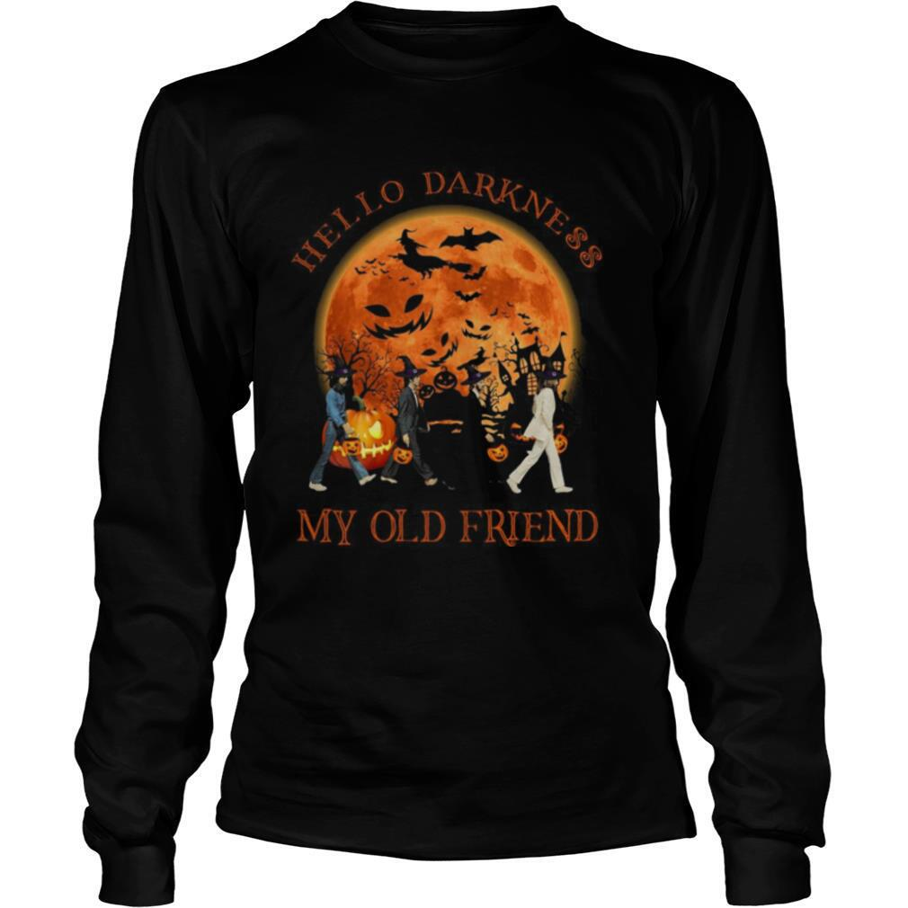 The Beatles Abbey Road Hello Darkness My Old Friend Halloween shirt