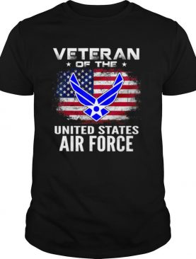 Veteran Of The United States Air Force With American Flag shirt