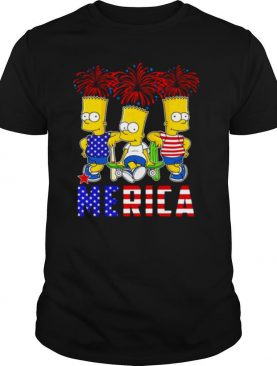 Bart Simpson Happy The 4th Of July America shirt