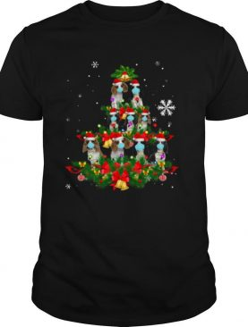 Cavalier King Charles Spaniel Christmas Tree Dog Mask Xmas Cute Gift shirt