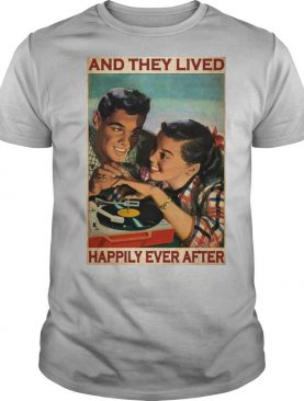 Couple Record Player And They Lived Happily Ever After Music shirt