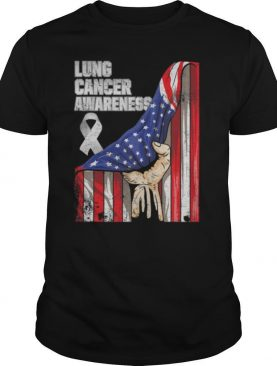 Lung Cancer Awareness American Flag shirt