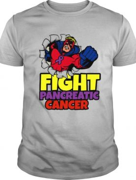 Superhero Fight Pancreatic Cancer Purple Ribbon shirt