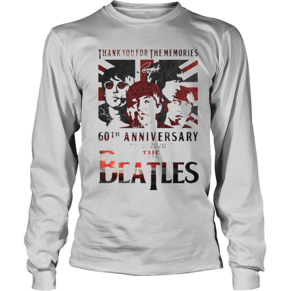 Thank you for the memories 60th Anniversary 1960 2020 The Beatles shirt
