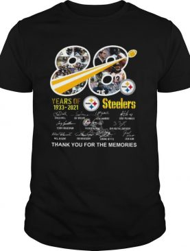 88 Years Of Pittsburgh Steelers 1933 2021 Thank You For The Memories Signatures shirt