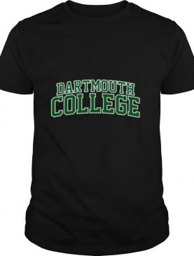 Dartmouth College green text shirt
