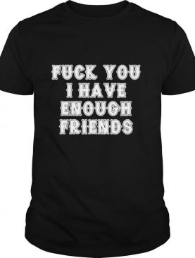Fuck you I have enough friends shirt