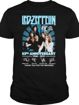 Led Zeppelin 53rd Anniversary 1968 2021 Thank You For The Memories Signature shirt