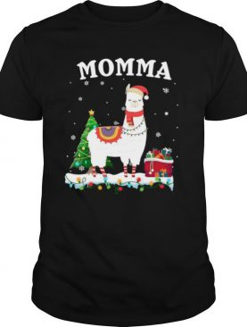 Momma Llama Christmas Costume Tree Gift shirt