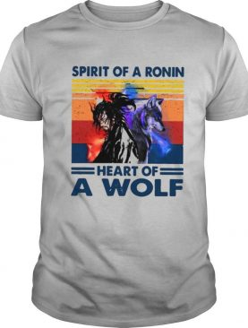 Spirit Of A Ronin Heart Of A Wolf Vintage shirt