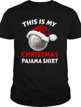This is my christmas pajama volleyball xmas shirt