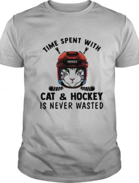 Time spent with cat and hockey is never wasted shirt