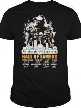 the pittsburgh steelers hall of famers players signature 2021 shirt