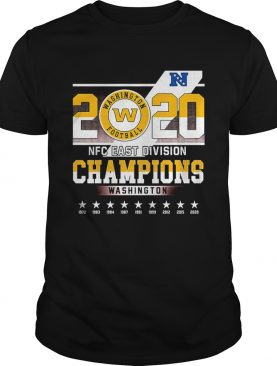 2020 Washington Football Nfc East Division Champions Washington shirt