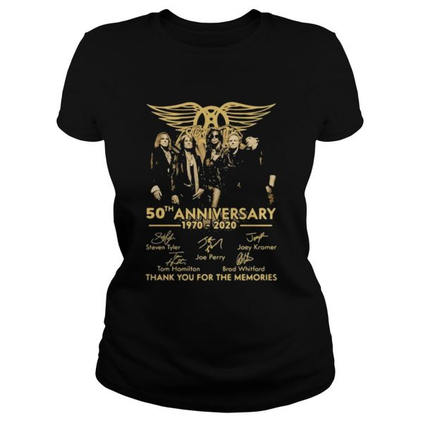 50th Anniversary 1970 2020 Thank You For The Memories Signature  Classic Ladies