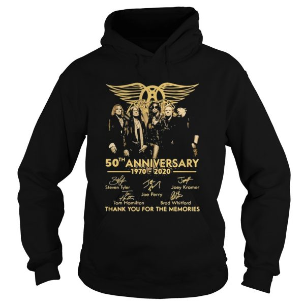 50th Anniversary 1970 2020 Thank You For The Memories Signature  Hoodie