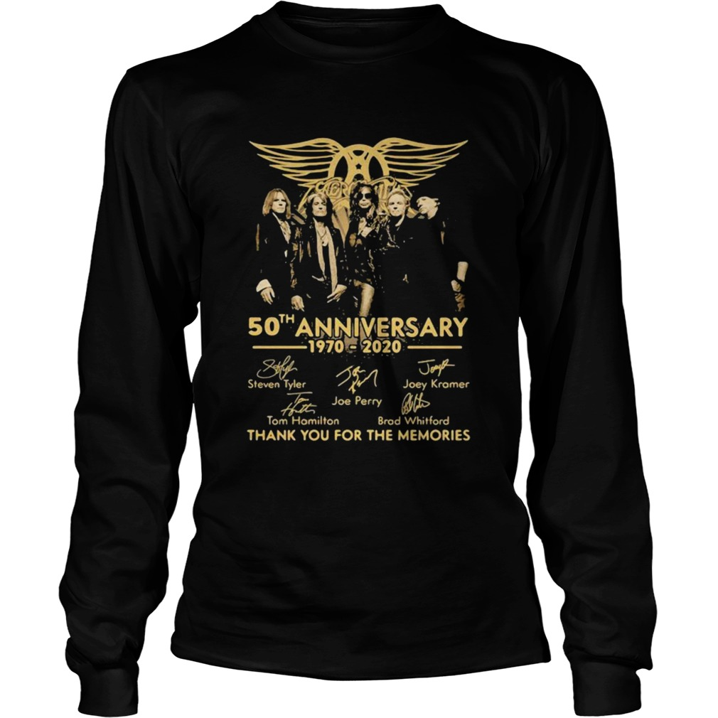 50th Anniversary 1970 2020 Thank You For The Memories Signature  Long Sleeve