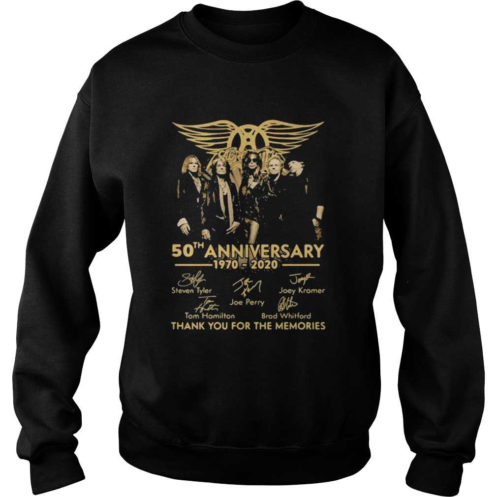 50th Anniversary 1970 2020 Thank You For The Memories Signature  Sweatshirt