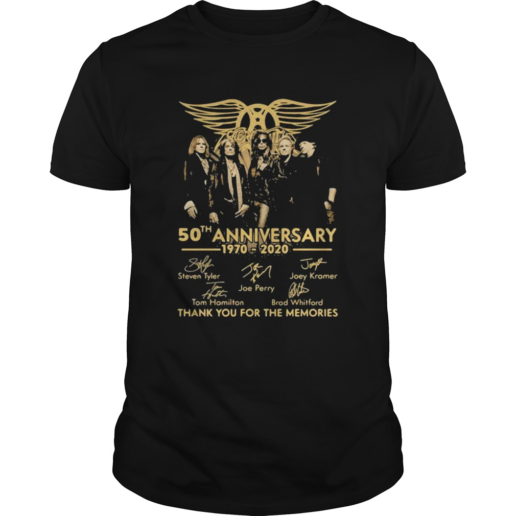50th Anniversary 1970 2020 Thank You For The Memories Signature  Unisex