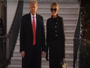 Melania Trump Exits The White House in An All-Black Outfit and $90 000 Birkin Bag
