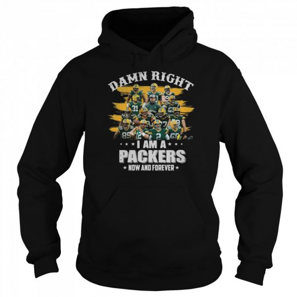 Damn Right Im A Packers Now And Forever 2021  Unisex Hoodie