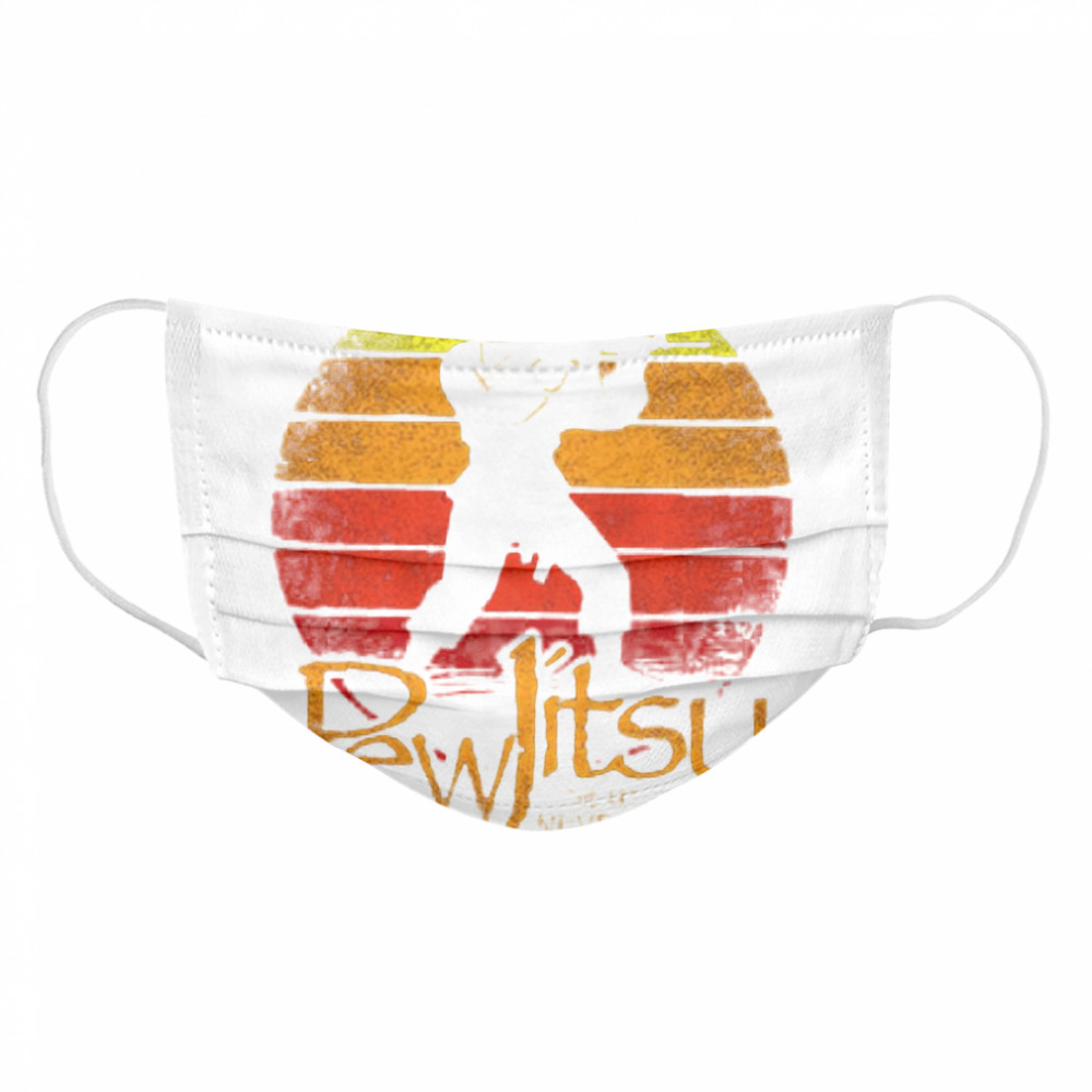 Pew Jitsu The Art Of Never Losing Vintage  Cloth Face Mask