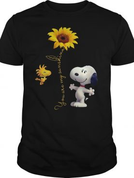 Snoopy Woodstock you are my sunshine sunflower