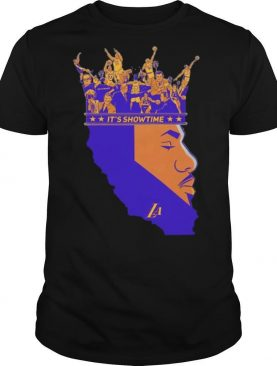 The King Los Angeles Lakers 23 Lebron James Its Showtime shirt