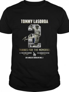 Tommy Lasorda 2 Thank You For The Memories Signature shirt
