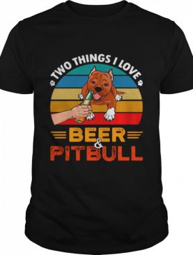 Two Things I Love Beer 2021 Vintage shirt